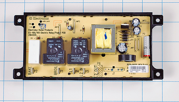 Electrolux Range Electronic Control Board & Clock Part number: 316455400